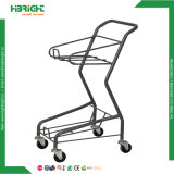Double chariot à achats de panier d'épicerie (HBE-J-1)