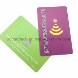 anti RFID de corte que obstrui o protetor do cartão/cartão de banco