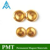 D14*2.5 de Gouden Magneet van NdFeB van de Knoop met het Magnetische Materiaal van het Neodymium