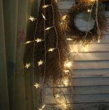 Luz Cinco-Pointed pequena da corda da luz da estrela da decoração do Natal