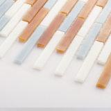 Azulejo de mosaico de cristal colorido linear para la pared de Backsplash de la cocina