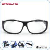 Occhiali da sole dell'obiettivo del nero del blocco per grafici di sport degli occhiali da sole delle donne trasparenti avvolgenti del Mens