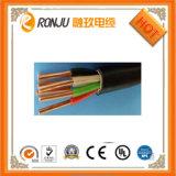 Кабель изолированный PVC силового кабеля плоский цветастый кабеля 28AWG радуги RoHS