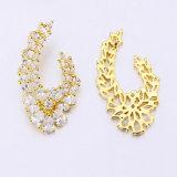 Modernes 18K 24K Gold überzogene Diamant-Ohrring-Schmucksachen