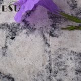 Pedra branca e preta bonita artificial de quartzo das veias