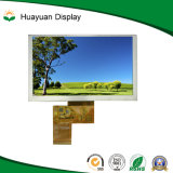 5 pulgadas de 800X480 de resolución de pantalla táctil LCD TFT
