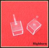 立方明確な水晶ガラスのセルキュヴェットをカスタマイズしなさい