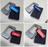 Logotipo livre de plástico Metal Giratório Pen Drive USB de 1GB, 2GB