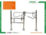 Supermercado de la seguridad interior de altura media de acero inoxidable torniquete del sistema de control de acceso