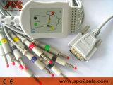 Burdick einteiliges 10-Lead EKG Kabel mit Widerstand