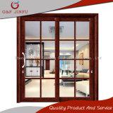 Puerta deslizante de cristal doble de aluminio de alta calidad del estándar europeo