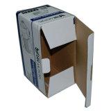 A venda barata recicl a caixa de papel grampeada de cartão ondulado com logotipo feito sob encomenda