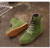 Оптовая торговля велюр Креста Ремни плоские ботинок соединительной тяги