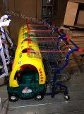 スーパーマーケットはショッピングトロリー子供のカートをからかう
