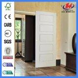 Moldado HDF pintadas de branco a madeira maciça Porta