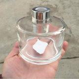 زخرفة بينيّة من قصب ناشر آنية زجاجيّة زجاجة مع معدن غطاء