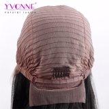 Yvonne 최고 판매 인간적인 Virgin 머리 똑바른 짧은 바브 레이스 정면 가발