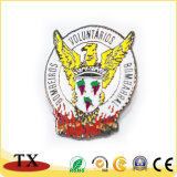 Pin animal de la solapa de la policía del halcón del águila de la divisa del metal para los regalos
