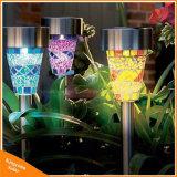 Sonnenenergie-Sicherheits-Lampen-im Freien LED begrabenes Licht für Garten-Bodenrasen-Garten-Beleuchtung