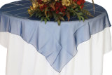 Tabela extravagante de Organza do casamento Overlay para o preço de fábrica da decoração da tabela