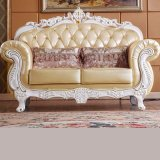 居間の家具(L929)のための木製の革ソファー