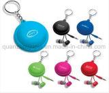 Случай моталки наушника провода кабеля USB силикона OEM с Keyring