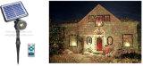 Luz laser solar, luz solar de la decoración, luces de la Navidad solares