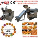 Patatas fritas automáticas industriales que fríen la máquina