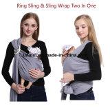 Envoltório do bebê do anel do portador do estilingue do suporte do algodão para crianças dos infantes