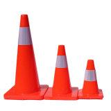 Design de uma peça do cone de segurança do tráfego empilháveis