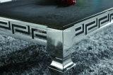 Octrooi Aangemaakt Glas of de Geïmiteerdew Houten Hoogste Eettafel van het Roestvrij staal