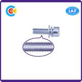 Pista de la taza del hexágono del tornillo de la combinación del acero de carbón con la combinación de la pista