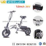 2017 12 bicicleta eléctrica del mini plegamiento de la pulgada 36V