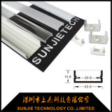 Il profilo robusto dell'alluminio LED ha messo montato per l'armadio/la mobilia con il coperchio opalino di PMMA