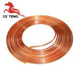 Tubo de cobre de la condición del aire de la bobina de la crepe