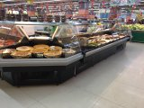 Porta de vidro corrediço de supermercados delicatessen do refrigerador de demonstração