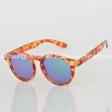 Gafas de sol redondas polarizadas UV400 características del espejo de los hombres de Sunglass del estilo simple