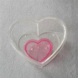 Empacotamento acrílico personalizado da forma impermeável do coração para flores