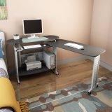 Madeira de MDF moderna e o vidro temperado mesa de computador de dobragem