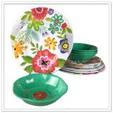 Placa llena de los electrodomésticos de la melamina de la impresión del diseño de la flor