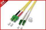 Assemblea ottica monomodale duplex LC della fibra al cavo di zona di LC 3 lunghezze di piede