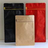 Zak van de Koffie van het Document van Kraftpapier van de Zak van de Bodem van de Boon van de Koffie van de douane de Vierkante Vlakke