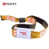 Pulseira RFID plástico impermeável/bracelete de RFID de Velcro para o evento e o Festival de Música