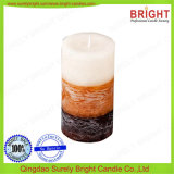 La decoración del hogar China productos profesionales para uso doméstico amarillo perfumado vela pilar