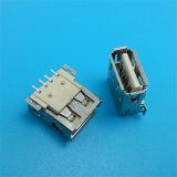 제조소 4pin 여성 SMT USB 2.0 소켓 연결관
