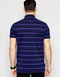 Commerce de gros hommes Short Sleeve Polo à rayures