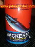 In Büchsen konservierte Makrele im Öl-Salz fügte 425g mit einfachem sich öffnen hinzu