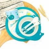 Bambusfaser-5-Piece gedrucktes Kind-Abendessen-Set scherzt Abendessen-Set (YK-KS0130)