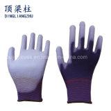 13 gants noirs de polyester de mesure avec l'unité centrale ont enduit pour l'industrie électronique