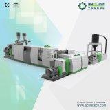 Máquina de reciclaje plástica de la etapa doble para las escamas del PE de los PP